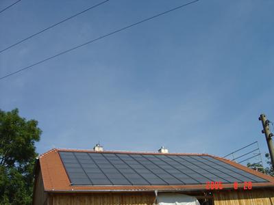 78 m² thermische Solaranlage