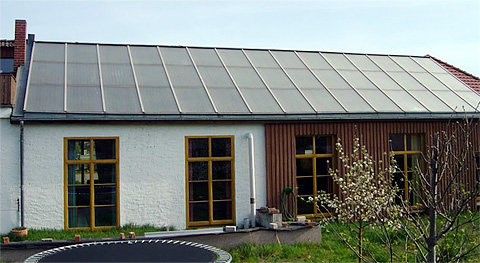 Solaranlage des Sonnenhauses